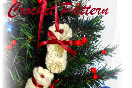 Baby Bootie Doll - Christmas Ornament, Crochet Pattern.