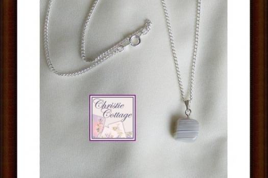Botswana agate Pendant silver chain