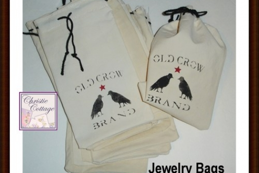 Jewelry Bags, Soap Bags, Gift Bags, Old Crow Brand, Set/13