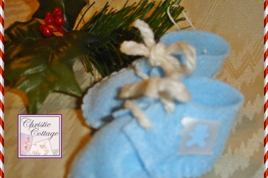 Baby's First Christmas Boy, Ornament, Blue
