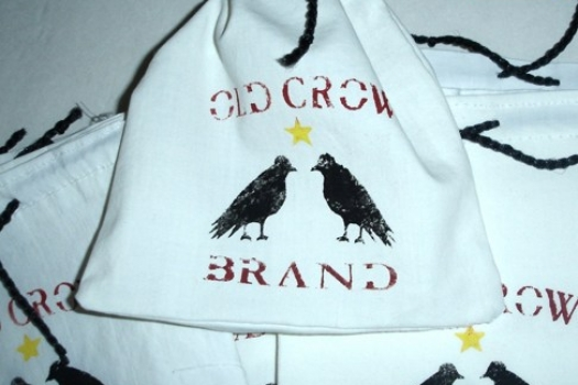 "Jewelry Bags, ""Old Crow Brand"", Raven, Handmade Set of 15"