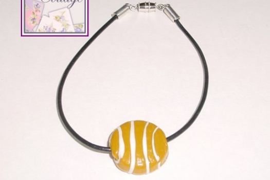 Glass Bead Bracelet or Anklet, Looks like a Basketball
