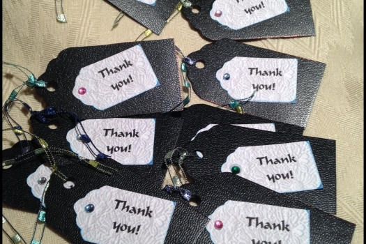 Thank You Tags,  Hang Tags, Set of 10. P165