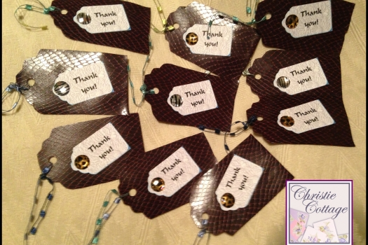 Faux Snake Skin Thank You Tags, Hang Tags, Set of 10, P166