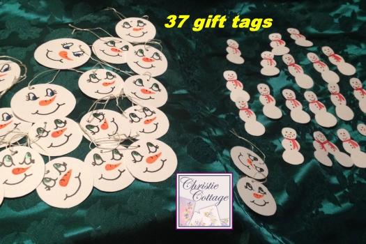 Handmade Snowmen Gift Tags