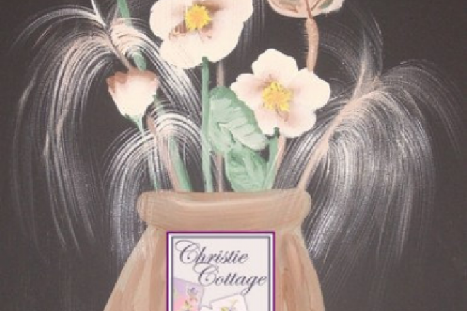 """ACEO Flowers in Vase from Acrylic Painting, Print - """"Memories"""""""