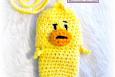 Duck Cell Phone Pouch (Camera, bottle, cozie, holder) Crochet Pattern PDF 006
