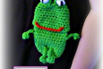 Frog Cell Phone Pouch,(Camera, bottle case, cozie, holder) Crochet Pattern PDF 0