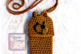 Bear Cell Phone Pouch - Crochet Pattern - PDF