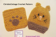 Kitty Cat Wash Mitt and Washcloth Set Crochet Pattern PDF 009