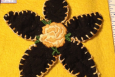 Daisy Applique, Yellow Vintage Rose,  Made in America