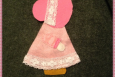 Sunbonnet Sue Applique, Handmade in America, Pink, 001