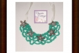 teal boho necklace, Made in America