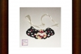 Boho crocheted necklace, butterfly