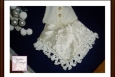 Miniature Wedding Dress Hankie, Keepsake