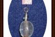 Pendant, Double Glass Bead