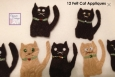 Handmade Cat Embellishments. For Cards, tags, scrapbooking