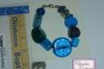 bracelet, chunky, blue, handmade in America