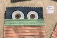 Face mask coaster, eyeballs