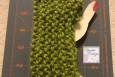 Apple green fingerless gloves