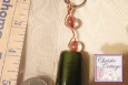 Green Wire Wrapped Keyring