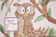 ACEO  Owl  Acrylic Print  Old Hoot