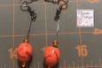 orange red focal bead dangles