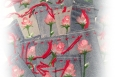 Hand painted drawstring jewelry bags