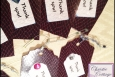Faux Snake Skin Thank You Tags, Hang Tags, Set of 10, P167