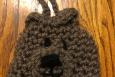 Crocheted Bear Cell Phone Pouch Purse
