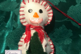 Christmas Ornaments, Handmade, Snowman, Set 4, Free Shipping