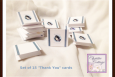 Mini Thank You Cards, Set of 15, Butterfly and Ribbon