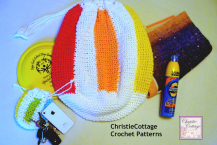 Crochet Pattern, PDF Beach Ball Bag, Beach Bag with Pouch,