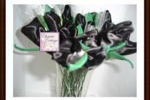 Rice roses, black