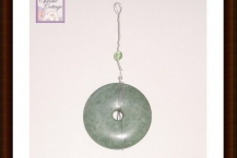 Jasper pendant, wire wrapped
