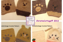 Animal Washcloth and Bath Mitt Set of 8 -Crochet Patterns PDF