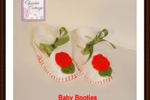 Baby Shoes, Booties, Baby Girl White Felt