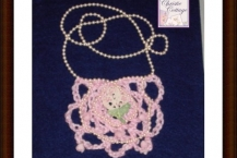Pink Bohemian Bib Necklace, Vintage Lace, Pink Pearls, Boho
