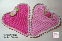 Heart Washcloth, Crochet Pattern, PDF