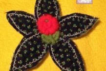 Daisy Applique, Handmade, 003, Vintage Applique Center