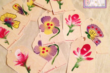 Hang Tags, Hand Painted, Set of 12, Made in America