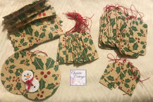 Handmade in America, Set, Christmas Gift Tags