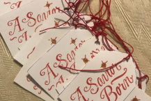 handmade Christmas Gift Tags, Hang Tags, Set of 20