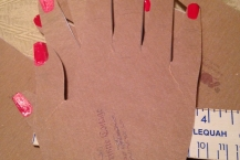 fingerless gloves hand displays