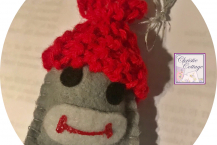 Ornament, Sock Monkey