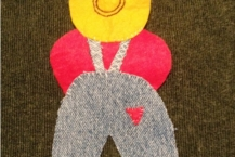 Overalls Sam Applique
