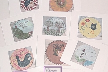 Note cards - Set of 8 - Saw blade Art