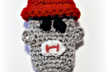 Sock Monkey Cell Phone Pouch, Crochet Pattern. PDF Pattern